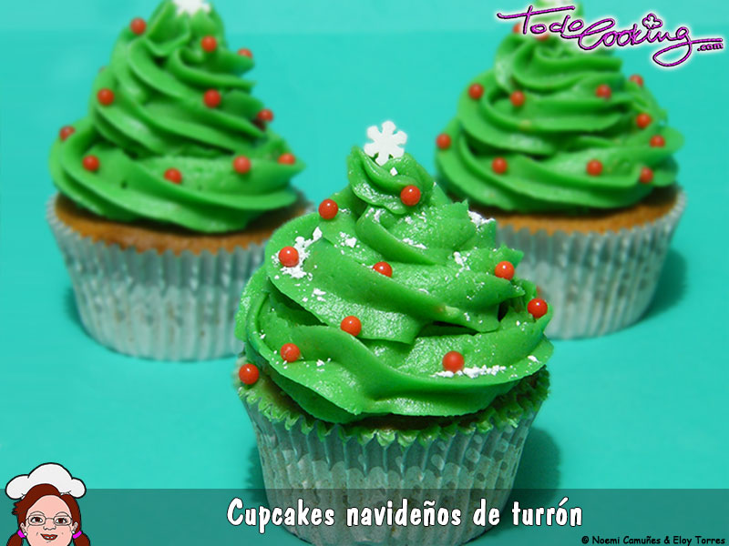 Cupcake navideño de turron