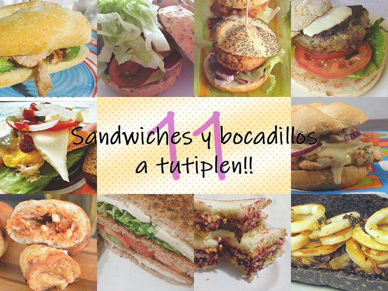 Sandwiches y bocadillos a tutiplén!