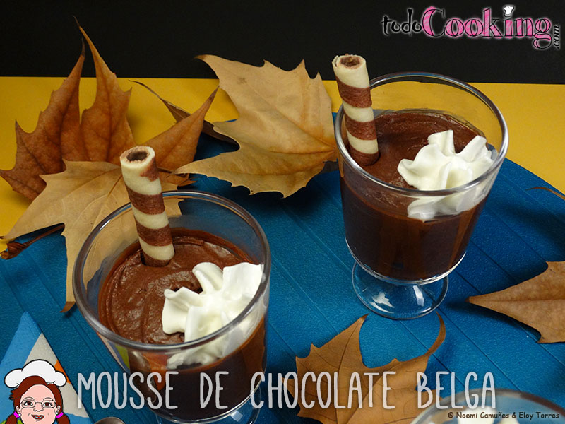 Mousse de chocolate negro belga