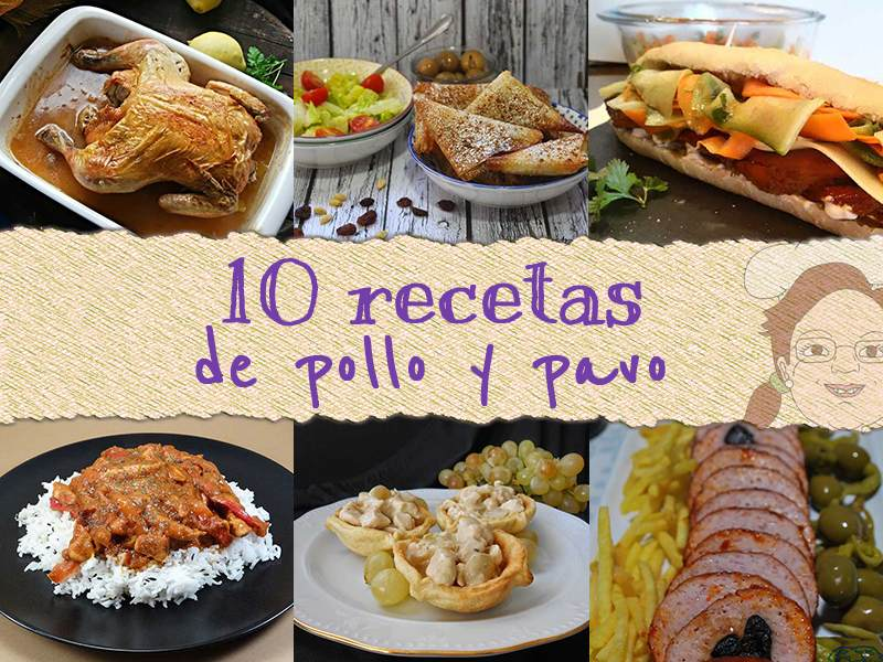 10 recetas de pollo y pavo