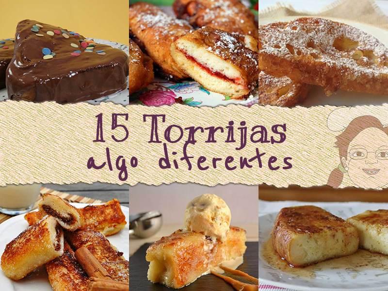 15 tipos de torrijas