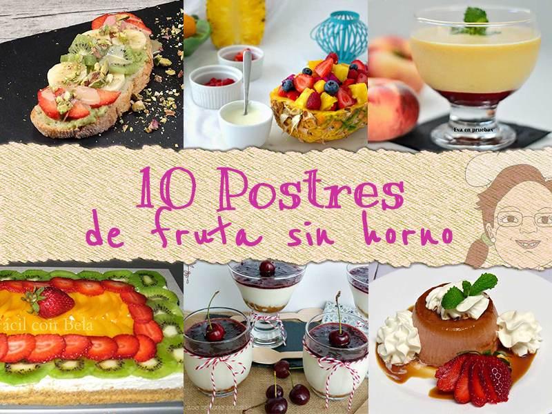 10 postres con fruta sin horno - Postres con frutas faciles ...