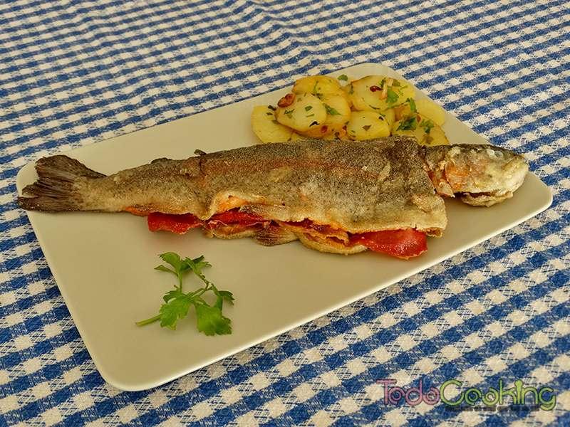 Trucha-a-la-navarra