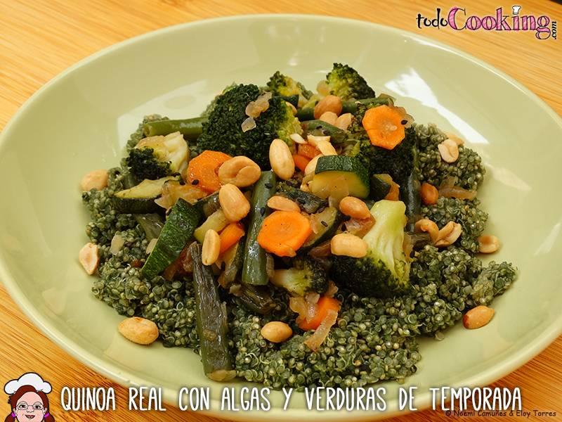 Quinoa-Real-Algas-Verduras - recetas saludables