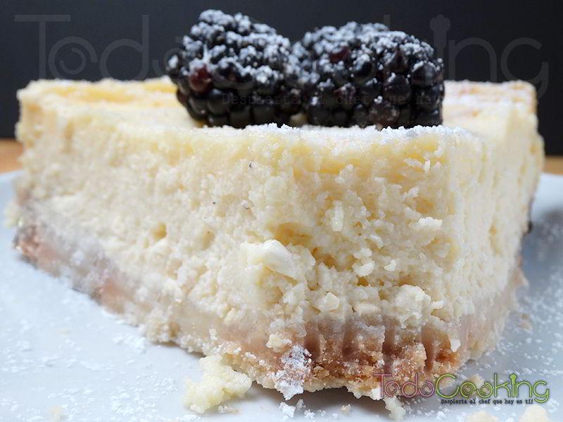 pastel de queso clásico en el microondas