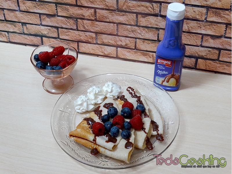 Crêpes de avena y yogur