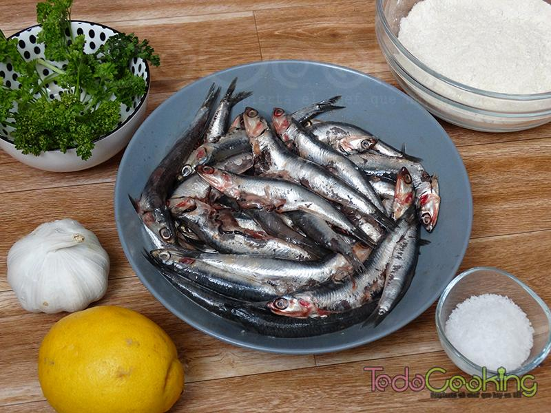 ingredientes boquerones fritos al limon