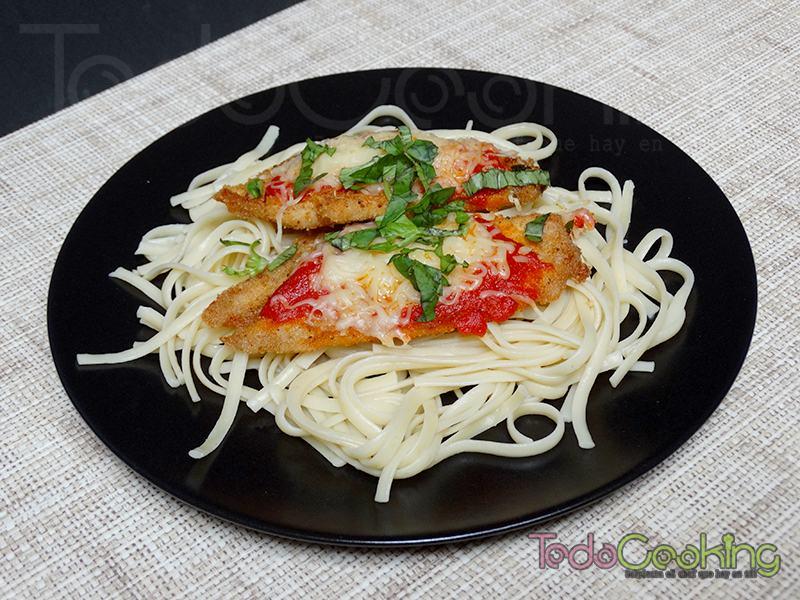 Escalopines de pollo a la parmesana
