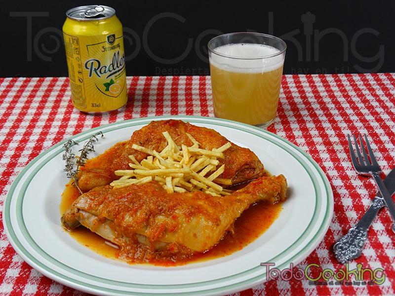 Pollo a la cerveza de limón