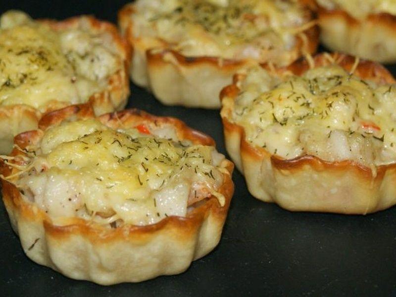 Tartaletas de pescado gratinadas