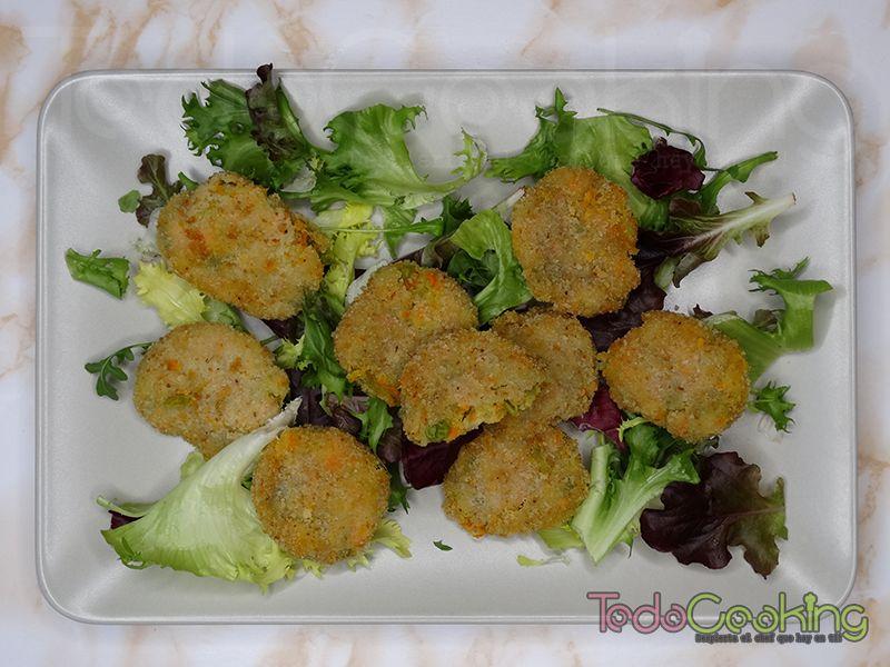 Nuggets de verduras con queso
