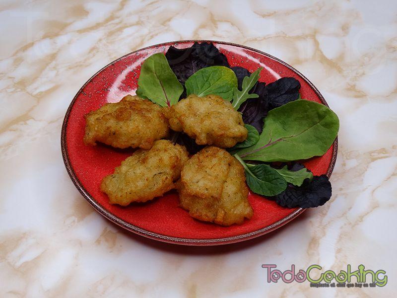 Buñuelos de bacalao sin huevo