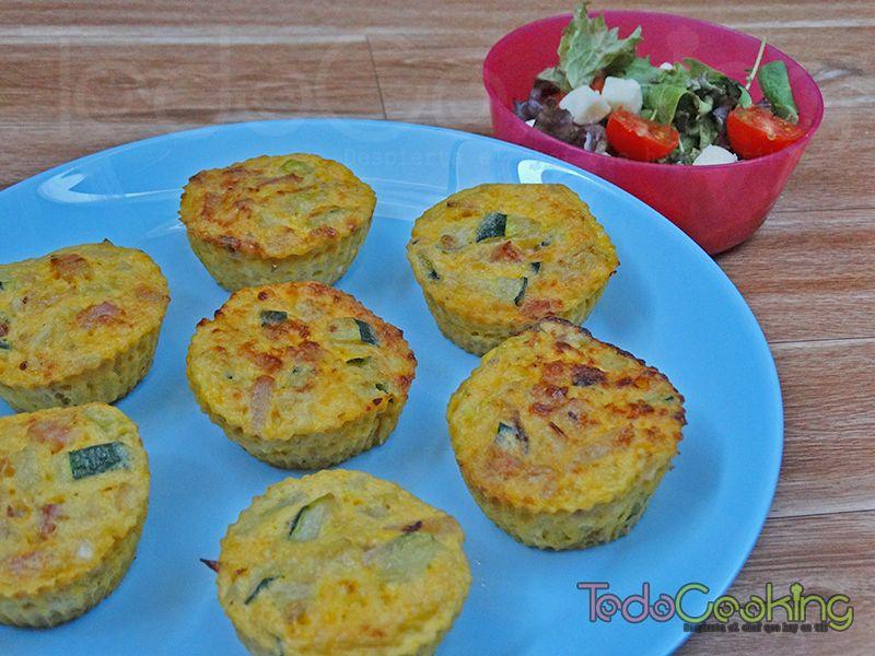Muffins de huevo con calabacín