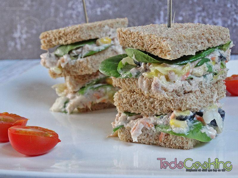 sandwich de ensladilla de atún