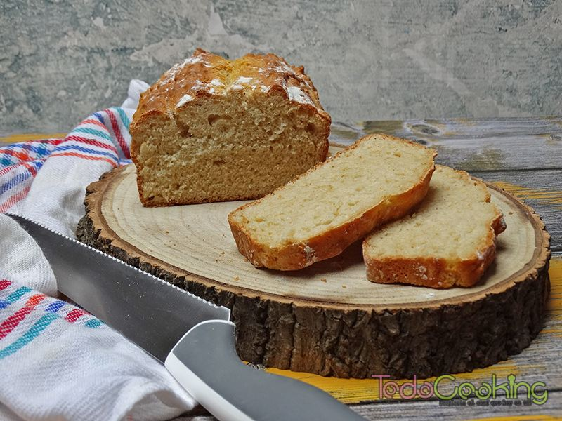 Pan sin amasado con harina común 03