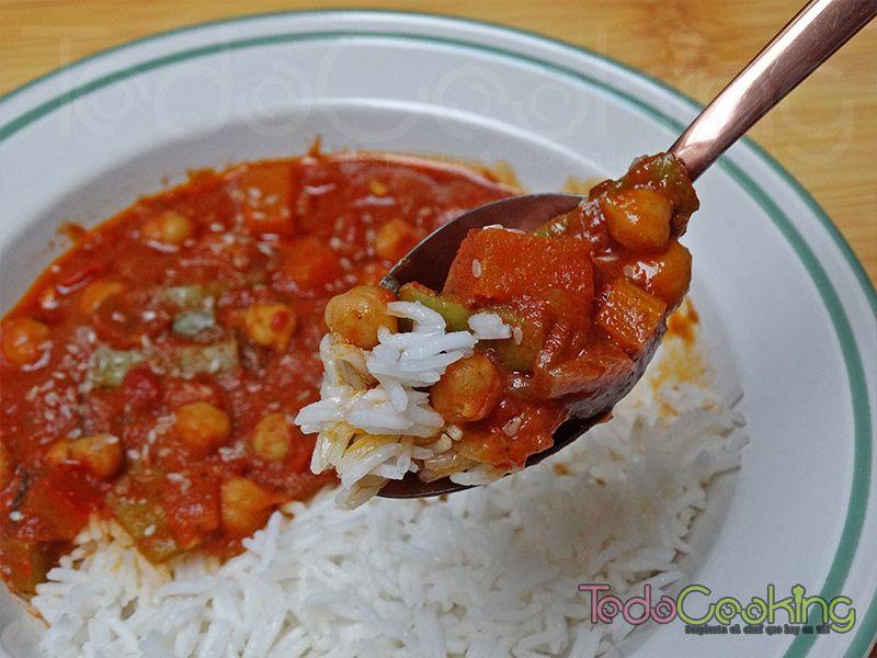 Curry Thai de garbanzos con calabaza 02